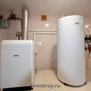 Бойлерная с обеспечением дома горячей водой, отоплением теплых полов