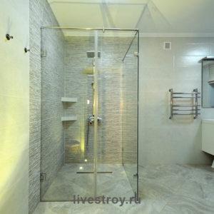 Устройство гидроизоляции санузла, облицовка стен и пола плиткой