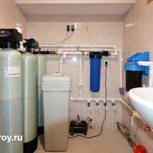 Водоподготовка с фильтрацией, аэрацией и умягчением воды, КП Лагуна