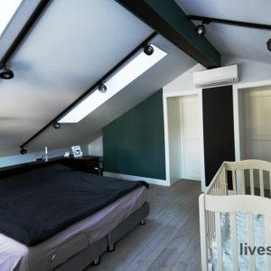 Спальня на мансардном этаже. КП Чистые Пруды. Финишная отделка