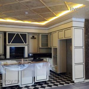кухня в коттедже перевезена из прежнего дома