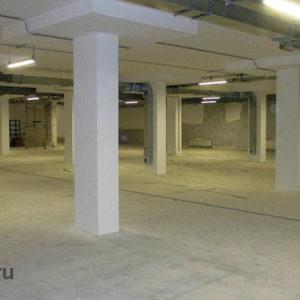 Отделка потолка и стен, а также колонн -1 уровня, подземная автостоянка
