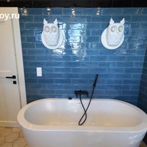 Оформление ванной в коттедже, КП Чистые Пруды