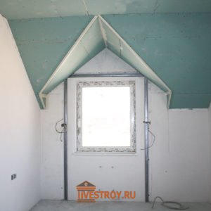 обшивка гипсокартоном потолка на мансарде