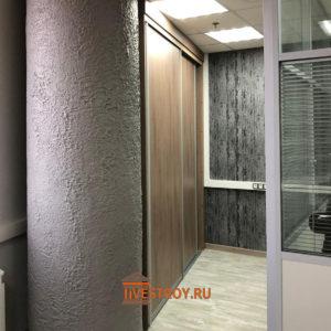 монтаж встроенной мебели в офисе