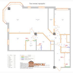 ремонт квартиры план перегородок