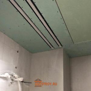 подготовка под потолочное освещение